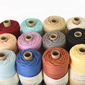Likee Macrame Cord 3mm X 100m, 100% Cotton Rope Craft String Braided Cord For Wall Hanging Plant Hangers Knitting Home Dec