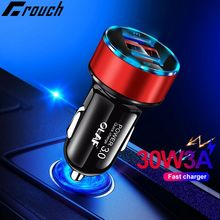 OLAF 30W 5V 3A Dual QC 3 0 Fast USB Car Charger For iPhone X 8 Samsung S10 Xiaomi Quick Charge 3 0 in car amp LED Digital Display cheap Mobile Phone Car Chargers Qualcomm Quick Charge 3 0 Car Lighter Slot 5V 2A ROHS OLAF Universal quick charge 3 0 fast USB Car Charger