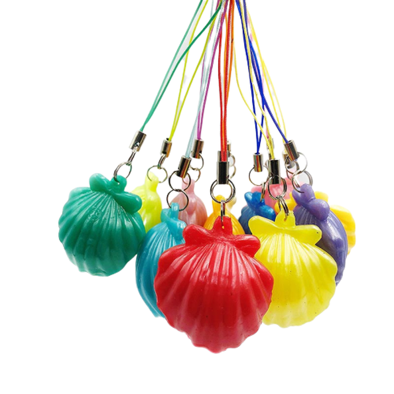 Squishy Infinite Squeeze Antistress Shell Toy Expression Chain Key Pendant Ornament Stress Relieve Decompression Toys Antistress