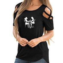Nuevo verano belleza uñas salón vinilo divertido geek impreso camiseta mujer suelta algodón manga corta Mujer hombro Vintage camisetas