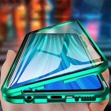 Pour Redmi Note 8 Pro boîtier magnétique Double face verre luxe Protection couverture pour Redmi Note 7 Pro boîtier magnétique boîtier coque