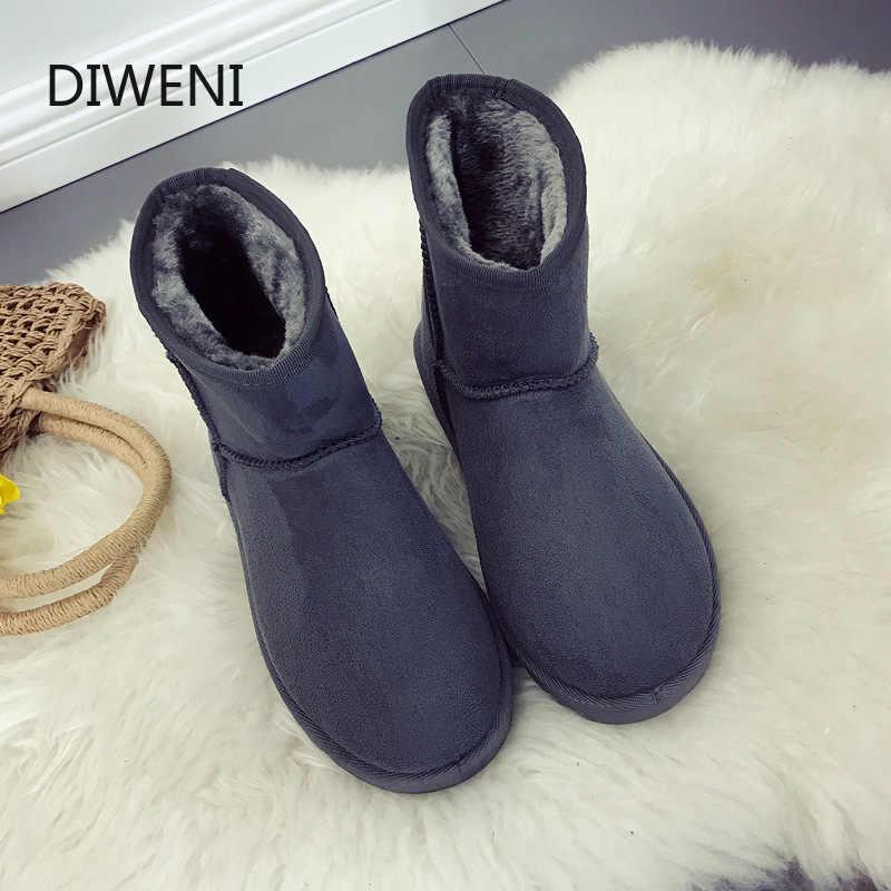 Markalar Yüksek Kaliteli Avustralya Kış Kadın Kar Botları Inek Bölünmüş Deri Ayak Bileği Ayakkabı Kadın Botas Mujer çizmeler kadın N246