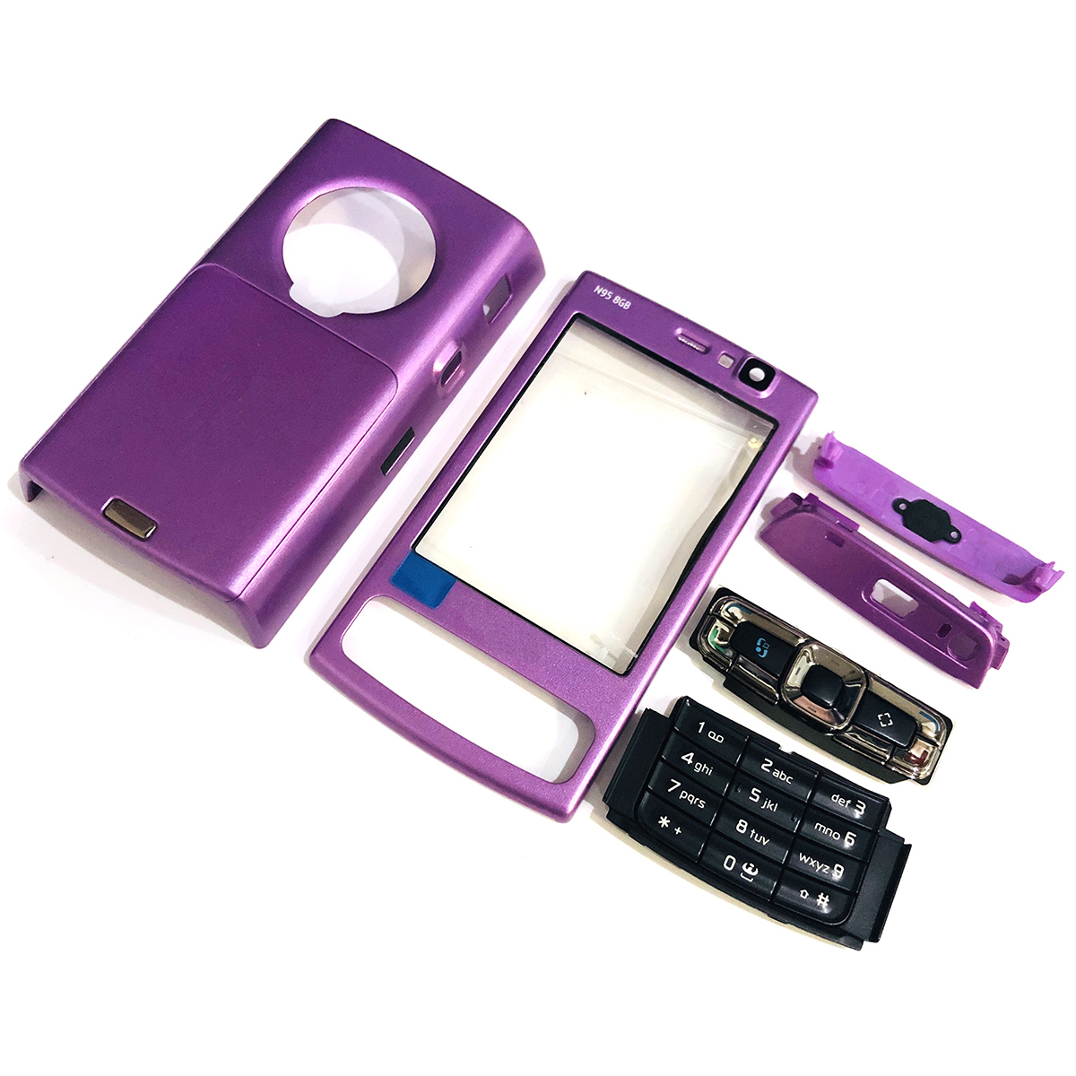 For Nokia N95 8G Housing Front Faceplate Frame Cover Case+Back Cover/battery Door Cover+Keypad