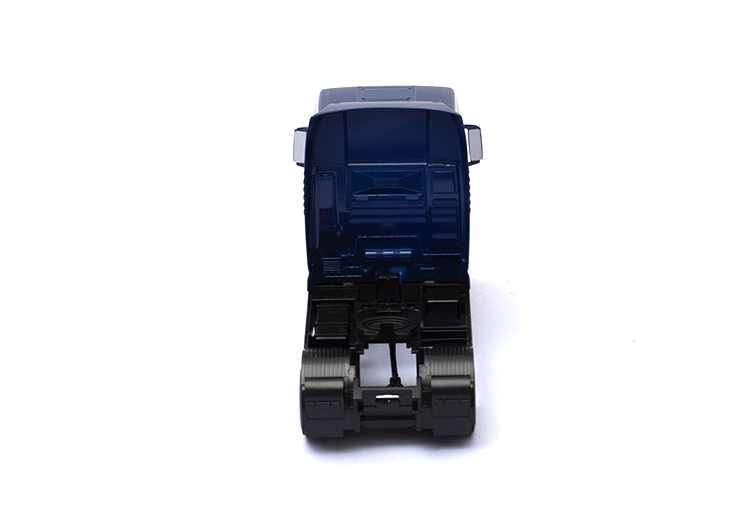 1:32 Simulasi Truk Trailer Depan Paduan Bahan Pintu Bergerak Terhubung Kontainer Hobi Koleksi Anak-anak Mainan Model Mobil