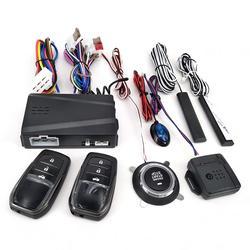 12V Auto Alarm Afstandsbediening Auto Keyless Entry Motor Start Alarmsysteem Drukknop Remote Starter Stop Auto Anti -Diefstal Systeem