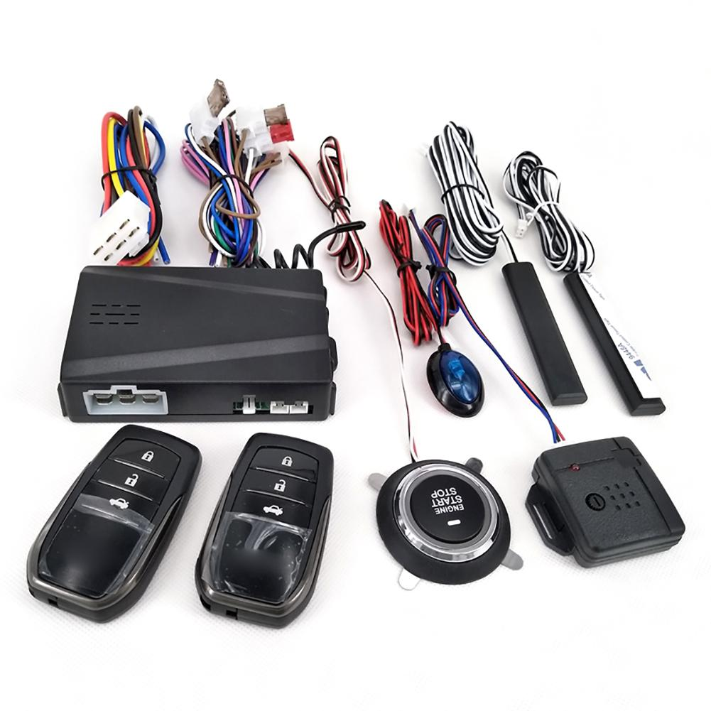 Alarm-System Stop Remote-Starter Car Entry-Engine Push-Button Keyless 12V Car-Alarm title=