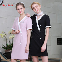 Spring and summer new work clothes female dress technician work clothes female health club work dress beauty clothing