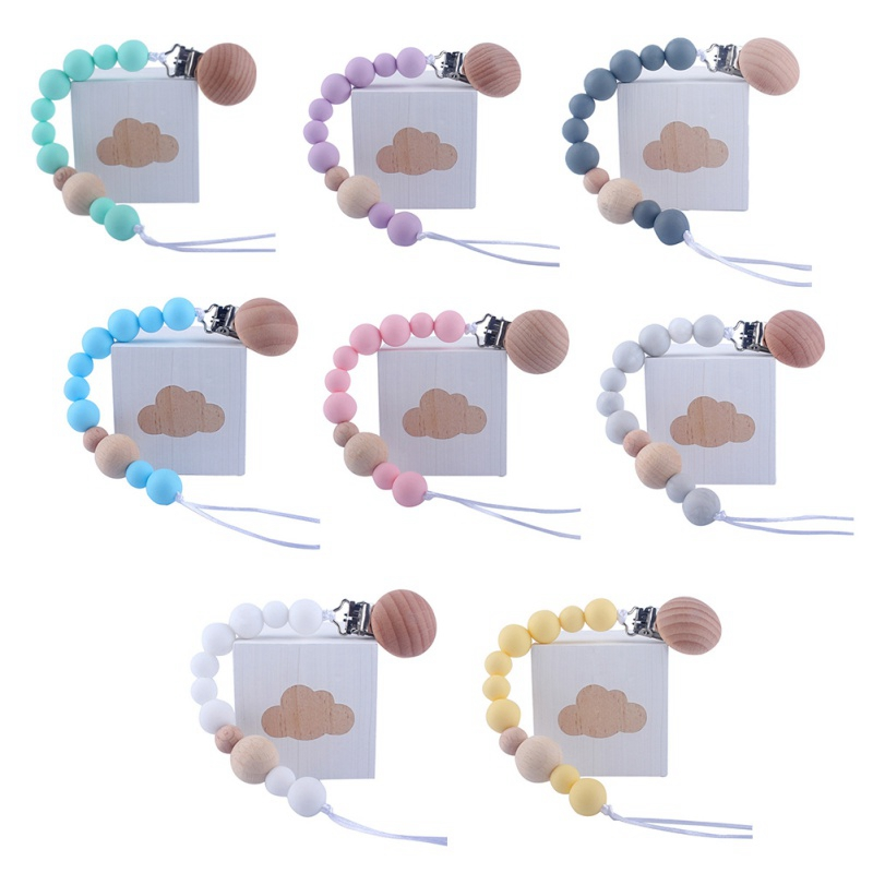 2019 New Baby Care Universal Holder Leash For Pacifiers Nipples Clip Infant Child Soother Beaded Wooden Chains Teethers