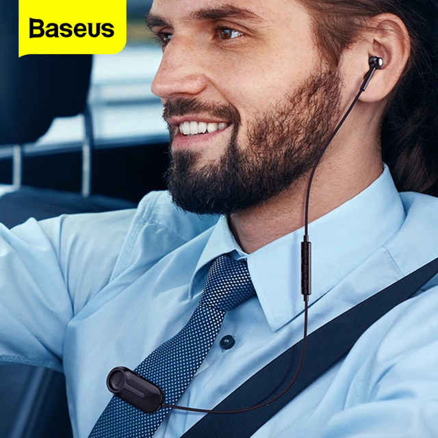 Baseus A06 Wireless Headphone Bluetooth Earphone Clip Bluetooth 5.0 Headset Handsfree Stereo Earbuds With Mic For iPhone Xiaomi