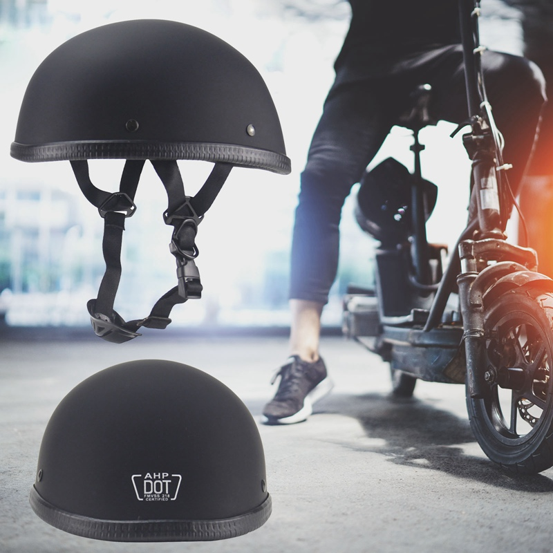 Vintage Motorcycle Half Helmet  German Scooter Riding Helmet Cycling Safety Head Protection Retro Chopper Cruiser Pilot Helmet