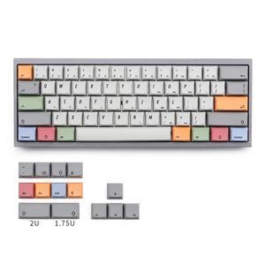 Image 1 - XDA Мел брелки PBT Due subbed 75 ключ для mx механическая клавиатура подходит TADA68 GK64 Porker GH60 DZ60