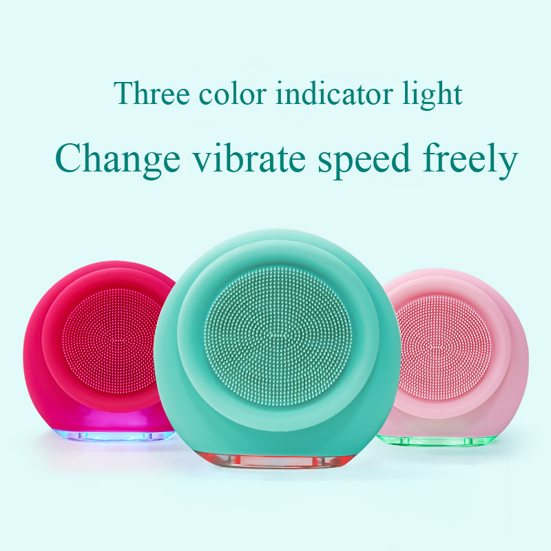 Купить с кэшбэком Portable Electric Face Skin Care Deep Washing Brush Tools Silicone Sonic Facial Cleanser Acne Blackhead Remover Machine