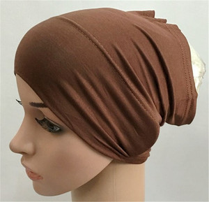 2020 soft modal inner Hijab Caps Muslim stretch Turban cap Islamic Underscarf Bonnet hat female headband turbante mujer