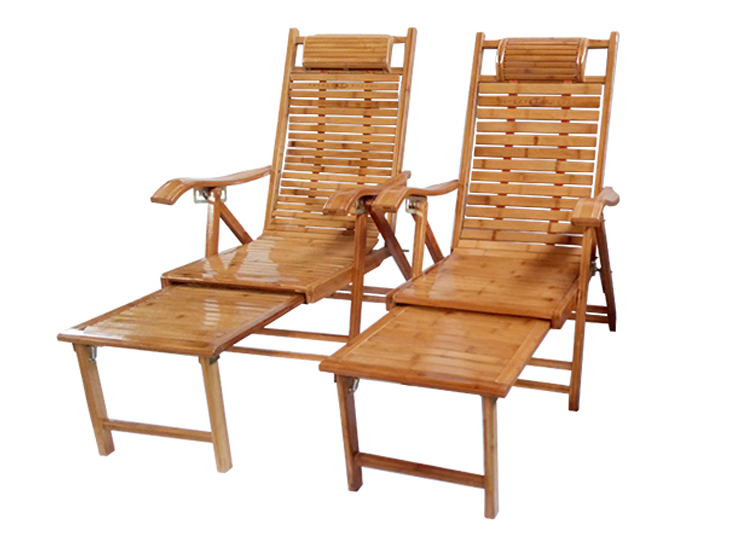 Bamboo Recliner Folding Chair Lunch Nap Recliner Elderly Chair Home Balcony Cool Chair Solid Wood Armchair Chair