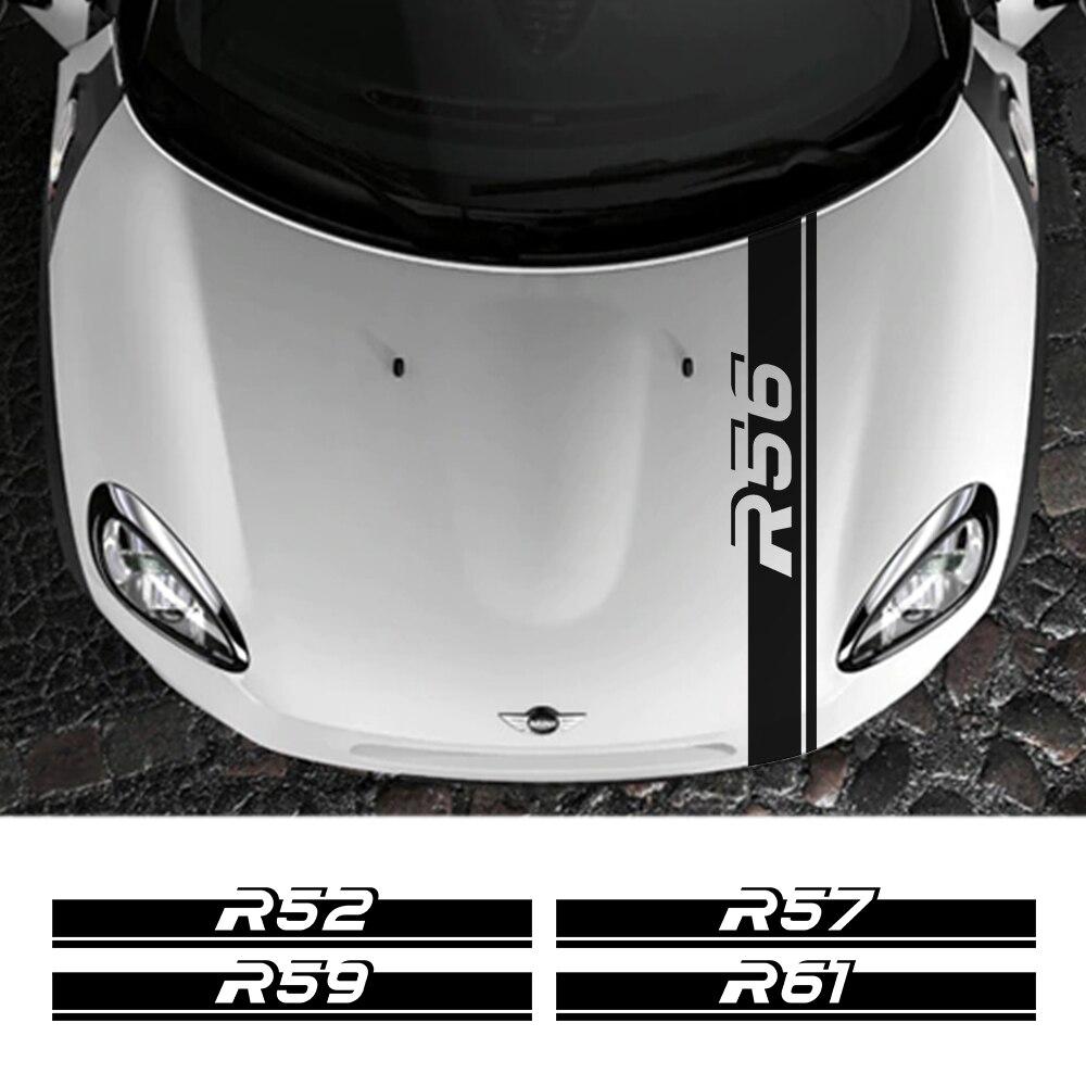 Capa do carro capa listra decoração adesivos para mini cooper r50 r52 r53 r55 r56 r57 r58 r59 r60 r61 capô do motor automóvel guarnição acessórios
