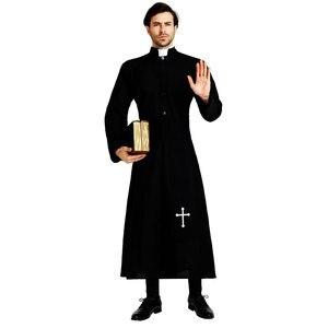 Image 2 - Umorden大人黒貴族プリースト衣装男性宗教牧師父衣装ハロウィンpurimパーティーマルディグラマスカレードファンシードレス