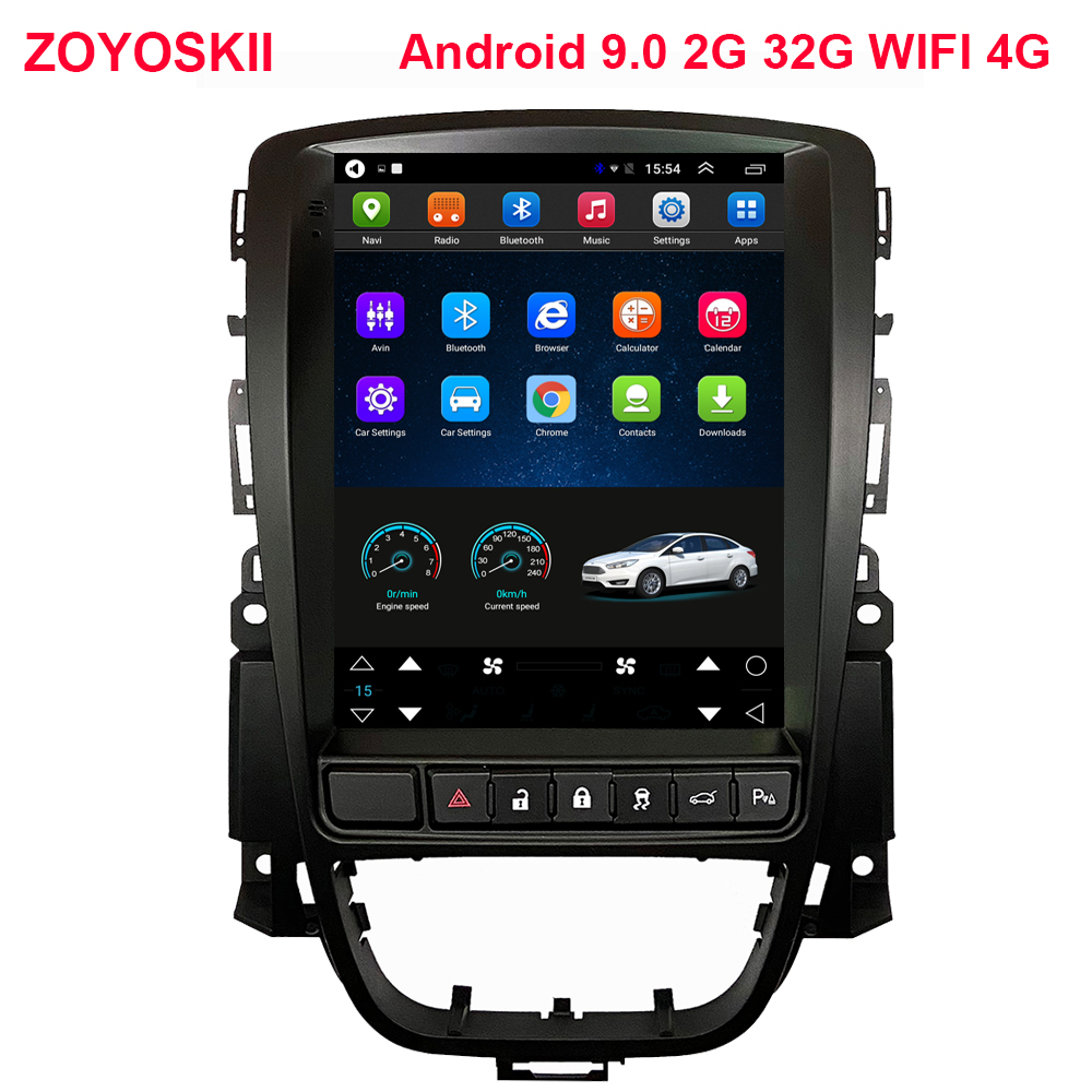ZOYOSKII Android 9.0 10.4 Inch IPS Vetical Screen Car Gps Multimedia Radio Bt Navi For Opel Astra J,Vauxhall Astra 2010-2017