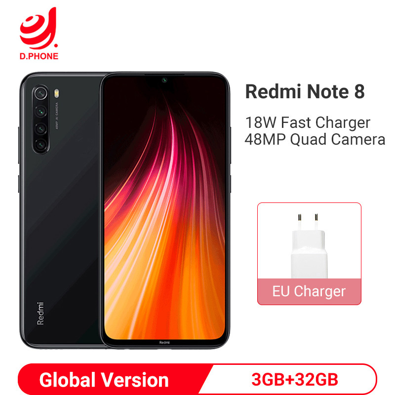 Globale Version <font><b>Xiaomi</b></font> <font><b>Redmi</b></font> Hinweis 8 3GB <font><b>32GB</b></font> Smartphone Snapdragon 665 Octa Core 48MP Quad Hinten Kamera 6,3