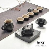 Chinese Kung Fu Bule de chá Xícara de Cerâmica Xícara de Café Dom Conjunto de Chá de Viagem Portátil  muito apropriado para o uso no escritório ou sala de estar.
