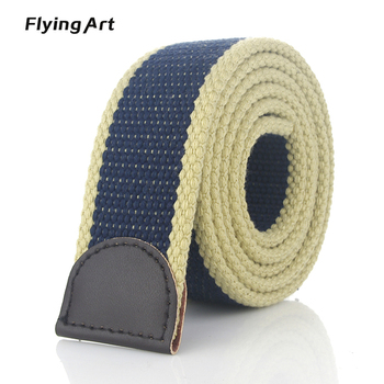 Hot Tactical Canvas Belt Body Men Women Thicken 4MM Military Width 3.8CM Designers High Quality 110-140-160cm No Buckle 1