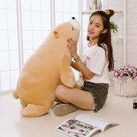 Down Cotton Class Soft Polar Bear Doll Pillow Plush Toys Long Pillow Doll Large Amount Favorably