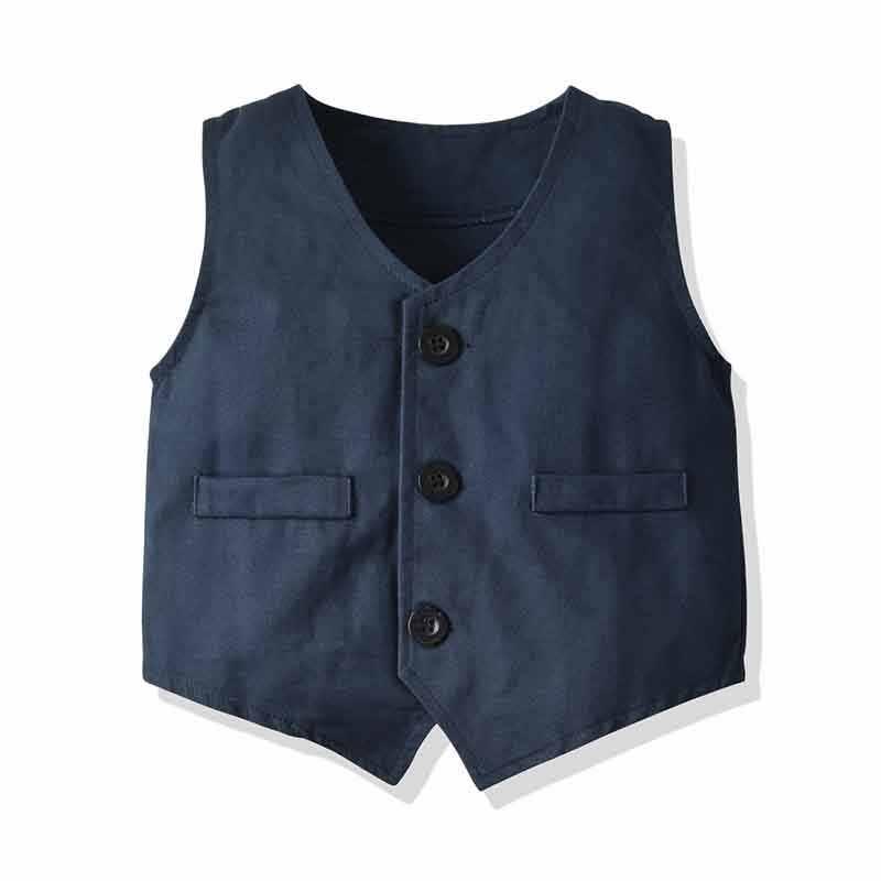 Baby Kids Formele Blazer Pakken voor Bruiloften Jongens Kostuum Gentleman 4 Stuks Kleding Blazer Peuter Katoen Blazer Sets