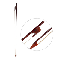 4/4 Full Size Durable Stable Cello Bow Round Stick Brazil Wood Horsehair String For Violincello Bow Parts Accessories