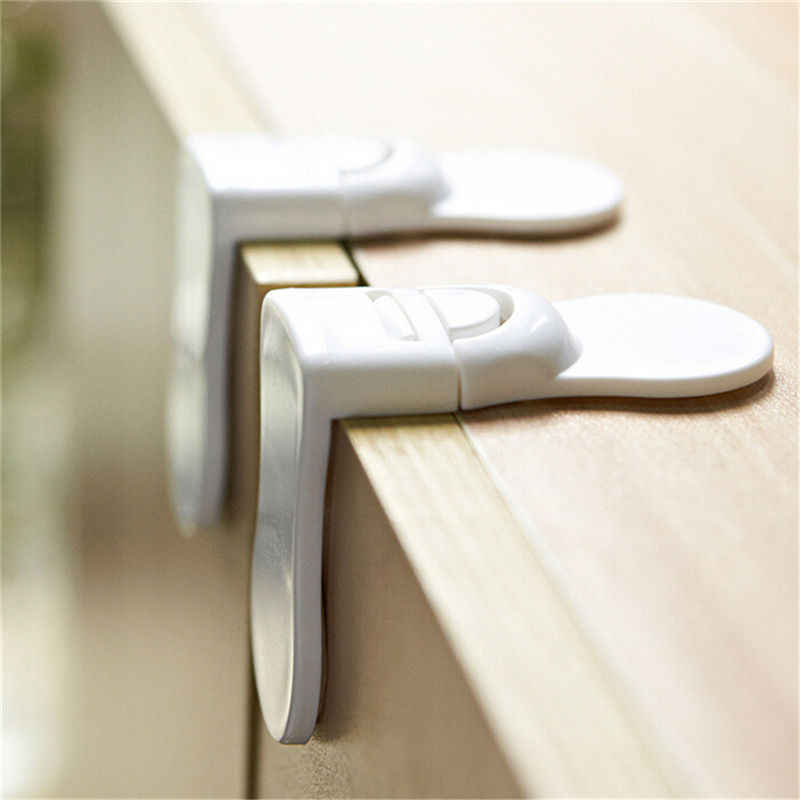 1 Uds. De plástico duro para el cuidado de los niños bebés protección de seguridad cajón puerta del gabinete ángulo recto cerradura de esquina productos de seguridad para niños