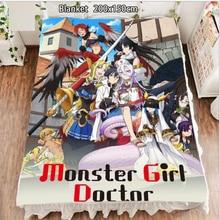 Anime Fleece Blanket Monster Girl Doctor Neikes Saphentite carpet soft 200x150cm Blankets and Bedspreads for Beds