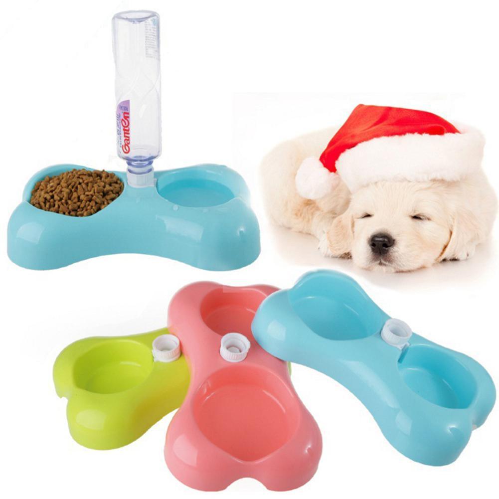 Bacia de cão em forma de osso da cor dos doces da finalidade de lanlan com fonte bebendo automática