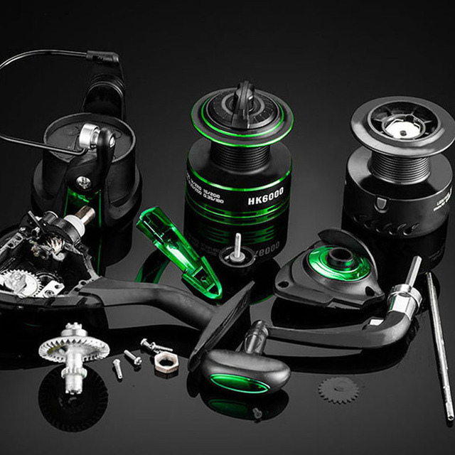 Spinning Reel 5.2:1 Right Left Hand Metal Coil Spool Saltwater Spinning Fishing Reel with Spare Spool 1000 2000 3000 4000 7000