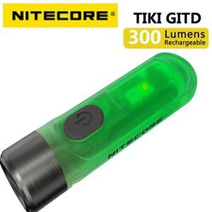 Image 3 - 100% מקורי NITECORE טיקי GITD טיקי LE 300 Lumens מיני עתידני keychain אור USB נטענת