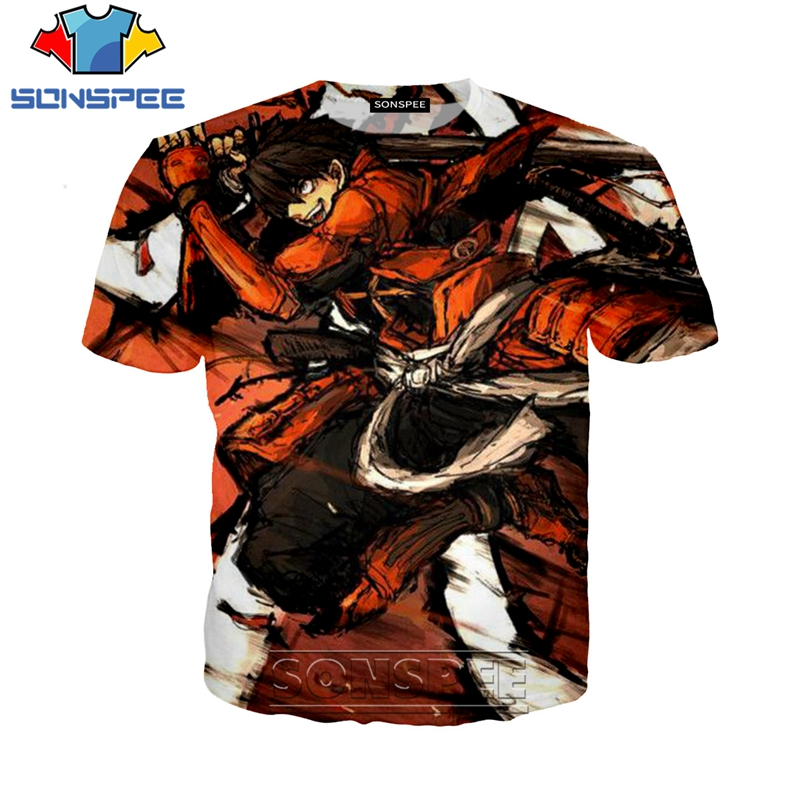 Anime Drifters 3D Printed T-shirts SONSPEE 3D Print Men Women 2019 New Casual Unisex Short Sleeve Hip Hop Tees Tops Shirt