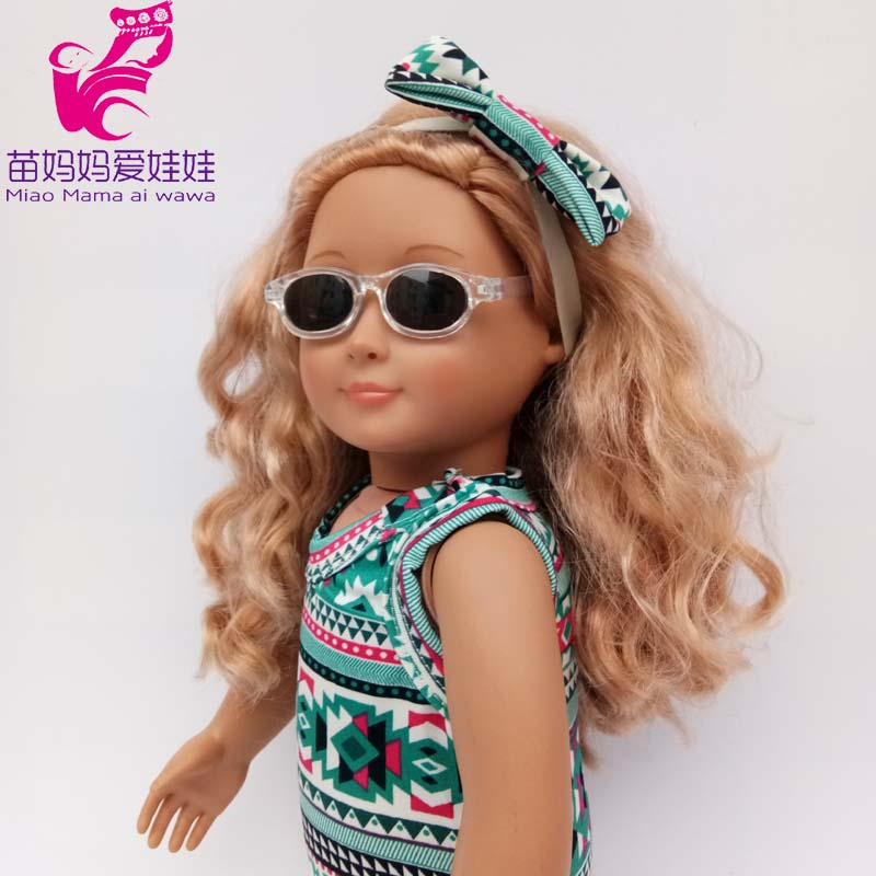 40cm 43cm Baby Doll Sun Glasses For 18 Inch Girl Doll Glass Accessories
