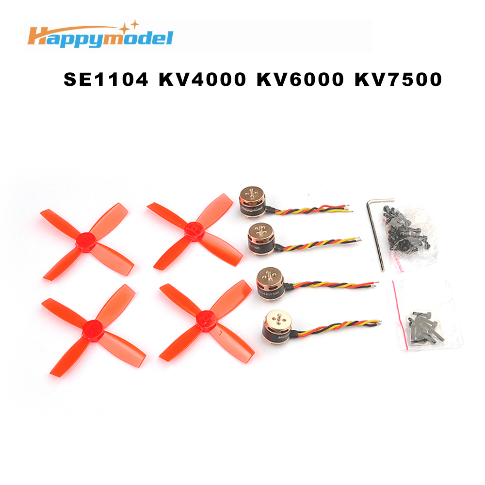4PCS Happymodel SE1104 KV4000 KV6000 KV7500 Motors Brushless Motor with <font><b>2035</b></font>/2435(60mm) <font><b>Propeller</b></font> for RC FPV Drone Spare Parts image