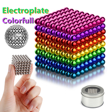 Toy Cube Blocks Building-Toys Magnet Crafts Construction Magic Metal DIY Colorfull-Arts
