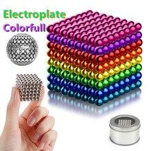DIY Metall Neodym Magie 5mm Magnet Magnetische Kugeln Blöcke Cube Bau Gebäude Spielzeug Farbenfrohes Kunst Handwerk Spielzeug Über 14Y