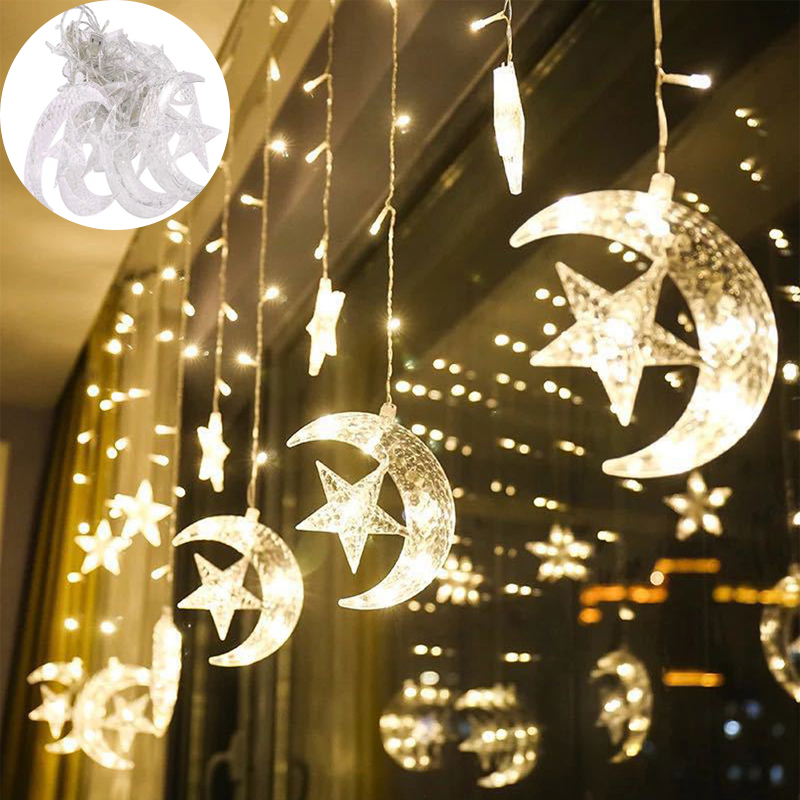 450x80cm EU 220V  String Light Garland LED Curtain Lighting  Islamic Muslim Decoration Party Supply Home Wall Decoration Party