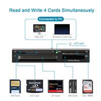 Lector de tarjetas de memoria todo en 1, Multi SD/Micro SD/USB/XD/CF /TF/SM/Adaptador de tarjeta SD Micro SD