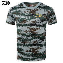 Новая футболка для рыбалки, футболка с сердцебиением, дайв рыбалка, простая футболка для мужчин, милая хлопковая камуфляжная футболка с короткими рукавами