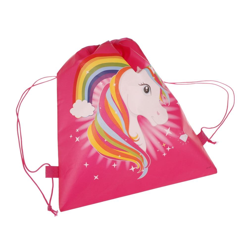 1PCS unicorn drawstring bags back bags cartoon theme Unicorn Drawstring Bag/_U