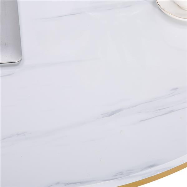 Marble Round Coffee Table 90cm * 90cm * 48.5cm White 2