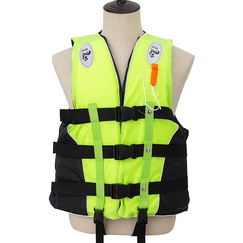 Спасательный жилет для взрослых со свистком, Мужская зимняя спортивная куртка, для плавания на лодке, лыжного спорта, дрифтинга, полиэстер