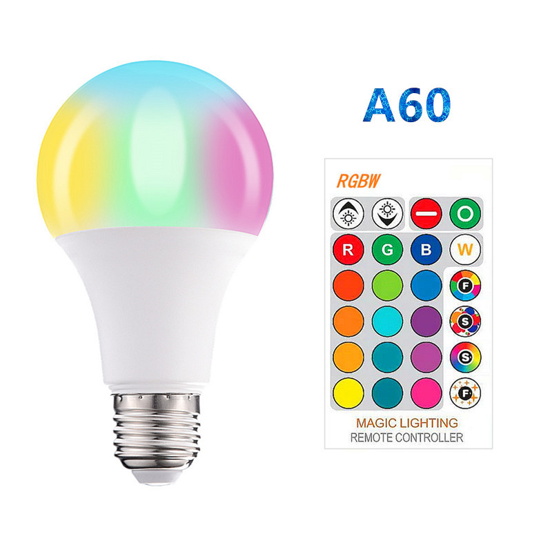 RGB E27 B22 E14 LED Light Bulbs Lamp 20W 9W 30W 220V LED Mini RGBW Globe Bulb Lampada Colorful With Remote Controller Lighting