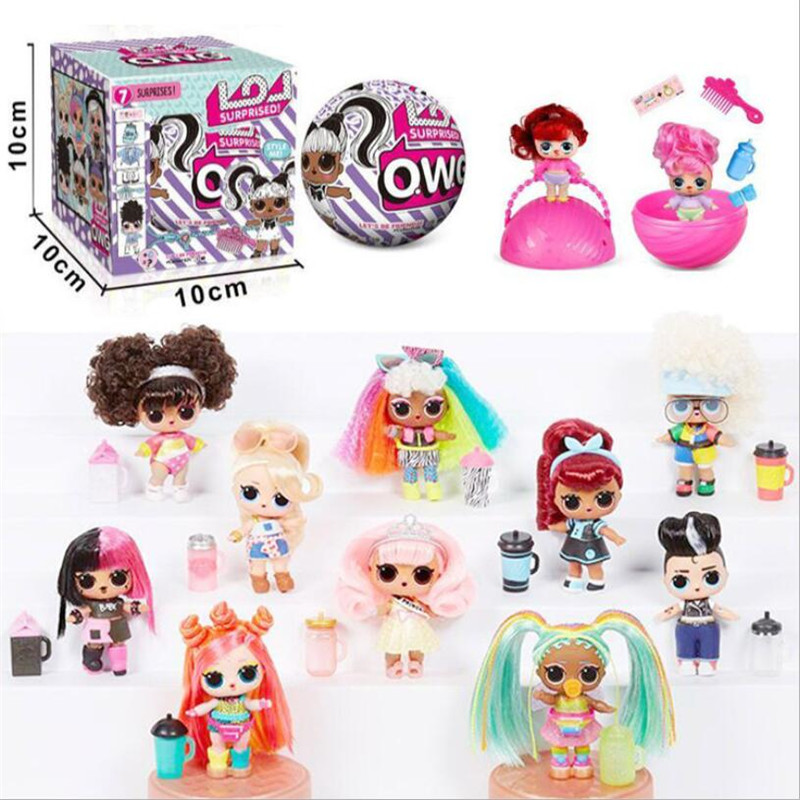 6 Pcs/Set New LoL Surprise Demolition Ball Cute Beautiful LoL Dolls Action Figure Kids Toys Children Birthday Gifts