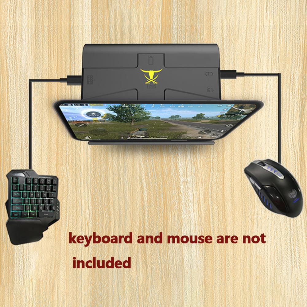 G1X Portable Phone Holder Gaming Keyboard Mouse Converter Stand Docking For FPS Games Data Line Using Keyboard-mouse For Phone