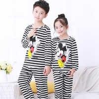 Sleepwear kids Pajamas set for children spring autumn kid's home clothes boys cartoon long sleeved homewear girls cute home suit