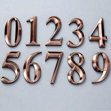 ABS гальваника DIY 3D 70*45 мм Офис Отель дом номер двери Знак Домашний номер дом буквы латунь etters 0-9