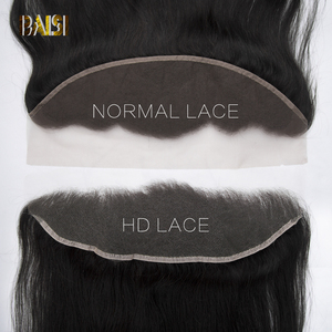 Image 3 - BAISI HD Lace Frontal Brazilian Straight Virgin Hair 13x4 Pre Pluck Hairline With Baby Hair Body Wave Transparent Lace Frontal