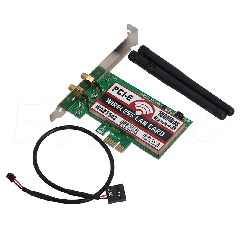 Bluetooth 4.0 Wireless 50M PCI-E PCI Express Card WIFI  LAN Ethernet NIC